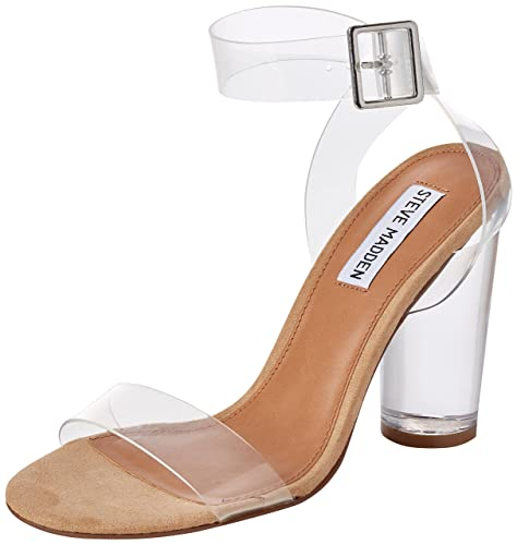 cc8148aecf6 Steve Madden Women s Clearer Open-Toe Sandals Transparent (Clear) 7.5 UK   Buy Online at Low Prices in India - Amazon.in