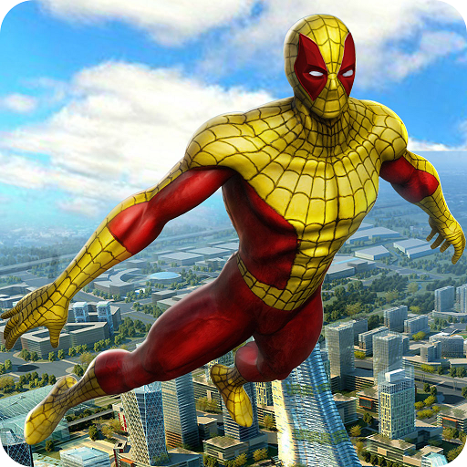 Super Hero Flying Spider Revenge Fighting Simulator 3D: Vegas Crime City Gangster Adventure Mission Games Free For Kids 2018