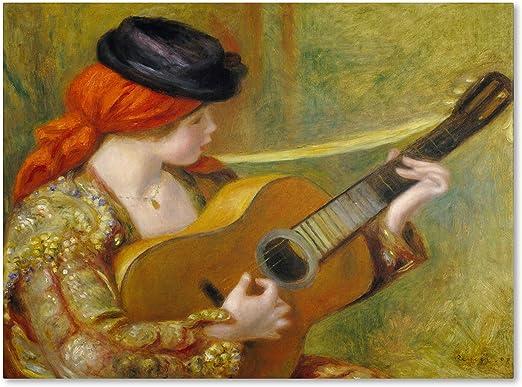 Trademark Marca Fine Art Young español Mujer con un Guitarra ...
