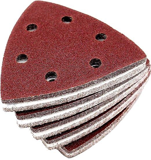 6 Pièce Papier Abrasif Disques Bois 80 mm Multitool Outil multifonction