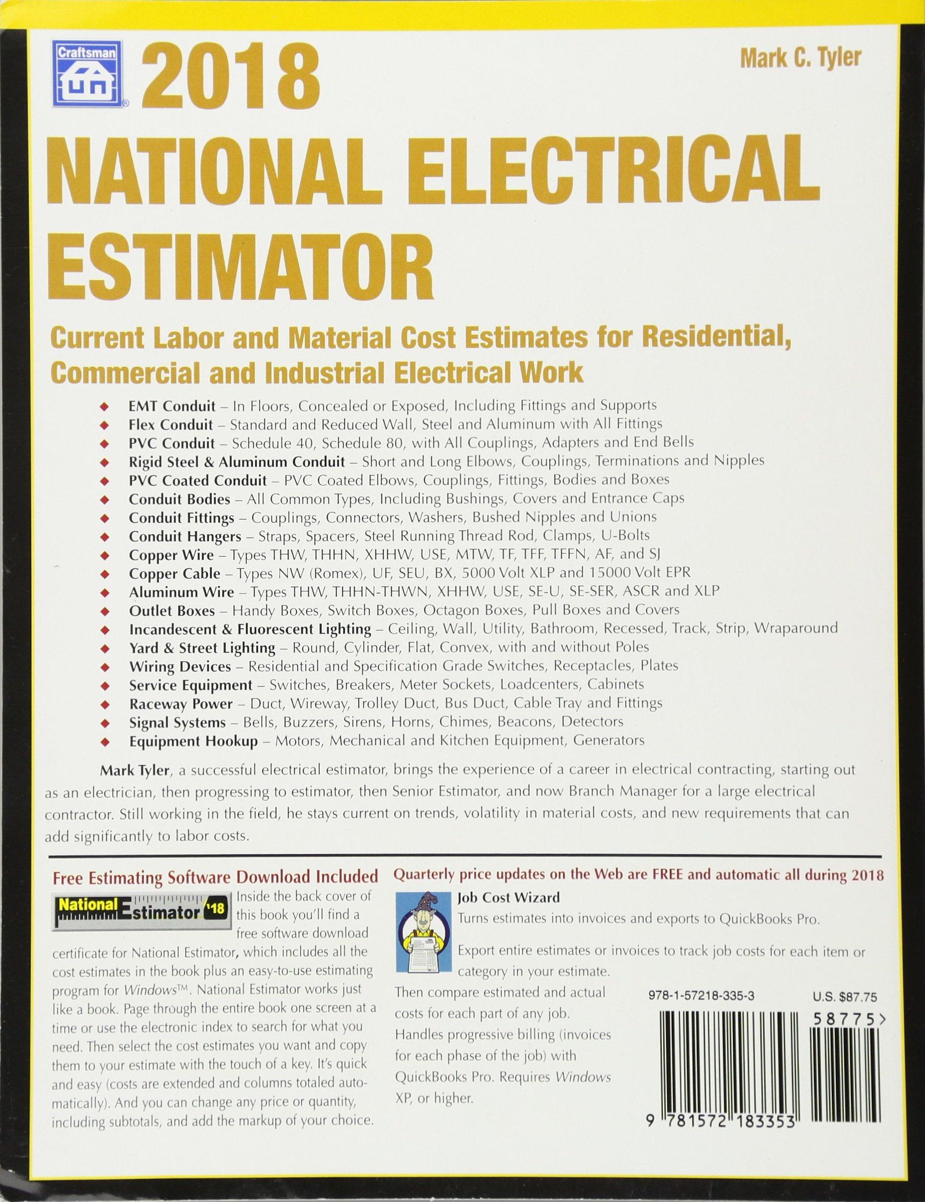 National Electrical Estimator 2018: Mark C. Tyler: 9781572183353 ...