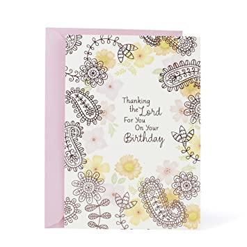 Hallmark Mahogany Religious Birthday Greeting Card For Mom Thank The Lord Amazonca Office Products