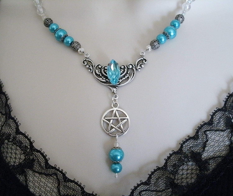 Pentacle Necklace for Women Pentacle Necklace Pentagram Necklace Crystal Necklace Blue Jasper Pentacle Necklace Wicca Jewelry Gemstone