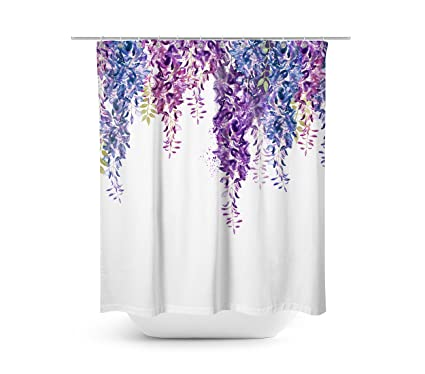 Livilan Weeping Wisteria Shower Curtain Set 708quot X Decorative Waterproof Quick