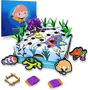 MEandMine Coral-Laboration Social Emotional STEAM Play Kit - Learn Teamwork and Social Skills - Inspire Creative Confidence, Problem Solving and Resilience - Ages 4-7