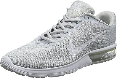 Nike Air MAX Sequent 2, Zapatillas de Running para Hombre, Plateado (Platino Pursho/Blanco/Gris Lobo 007), 39 EU: Amazon.es: Zapatos y complementos