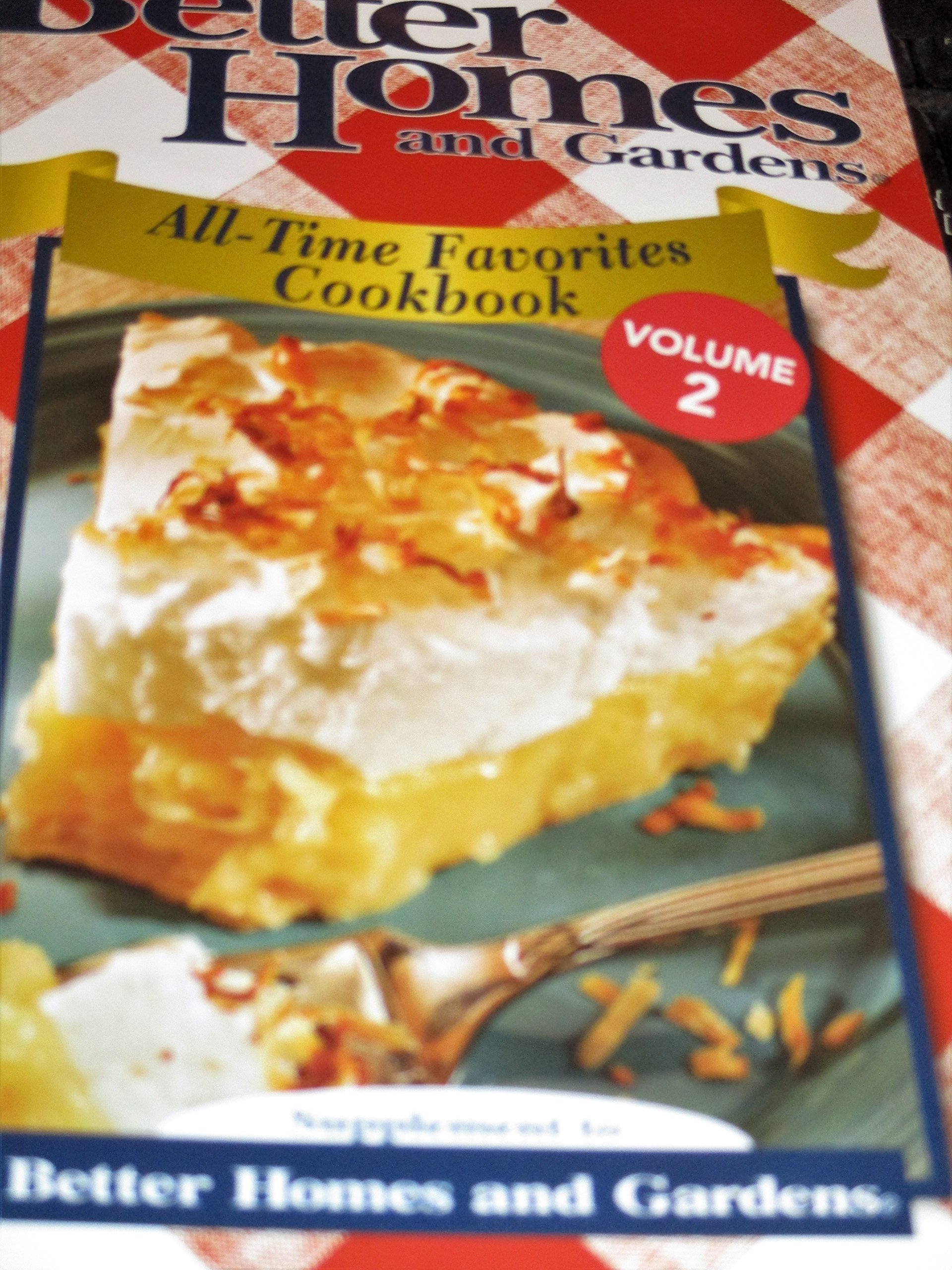 Better Home and Gardens All Time Favorites Cookbook Volume 2