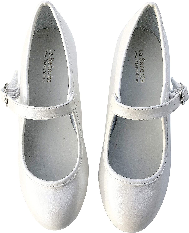 La Senorita Chaussures Flamenco Espagnol Blanc Ivoire