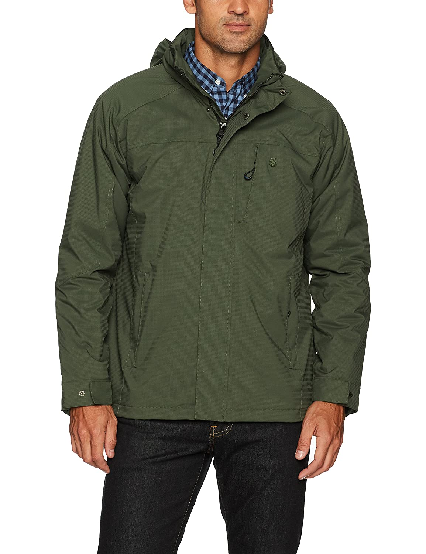 Izod Mens Water Resistant Midweight Jacket with Polar Fleece Lining IZOD Mens Outerwear IZ3733