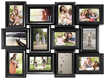 Amazoncom Mcs Mega Collage Frame With 12 4x6 Inch Openings Black