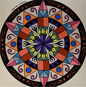 3dRose LLC ct_23186_4 Hex Sign 1 Pennsylvania Dutch Luck Protection Symbol Ceramic Tile, 12-Inch