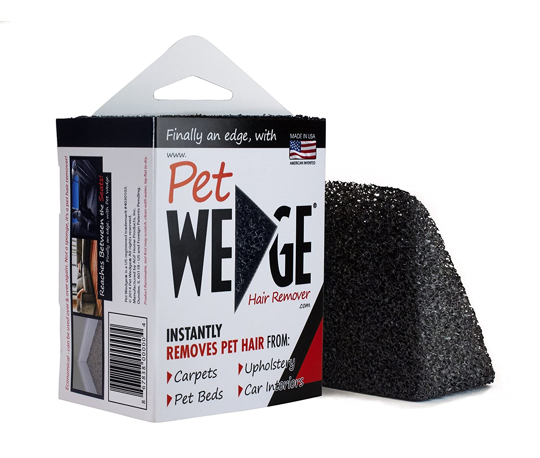 Pet Wedge Hair Remover- 2 Pack Pet Wedge & 2 Free Mini-Pocket Pet Wedge. Bonus Pack