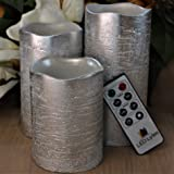 Battery Operated Flameless Candles Set of 3 Round