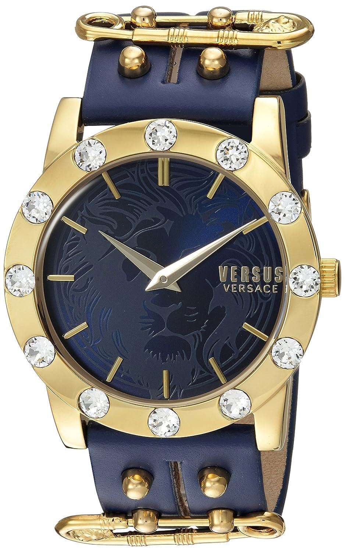 Versus by Versace Women 's ' Miamiクリスタル' QuartzステンレススチールCasual Watch, Color : Blue (Model : s73080016 ) B01MQK4Q3L