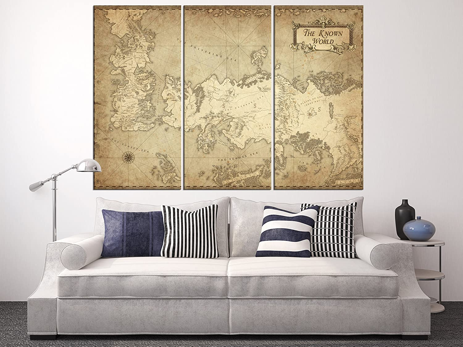 Amazon.com: The Game of Thrones Map Canvas Print, Map Wall ... on game of thrones review, game of thrones posters, game of thrones book, game of thrones winter, game of thrones diagram, game of thrones kit, game of thrones wildlings, game of thrones globe, game of thrones magazine, game of thrones win or die, game of thrones maps hbo, game of thrones garden, game of thrones war, game of thrones pins, game of thrones maps pdf, game of thrones castles, game of thrones hardcover, game of thrones white walkers, game of thrones table, game of thrones letter,