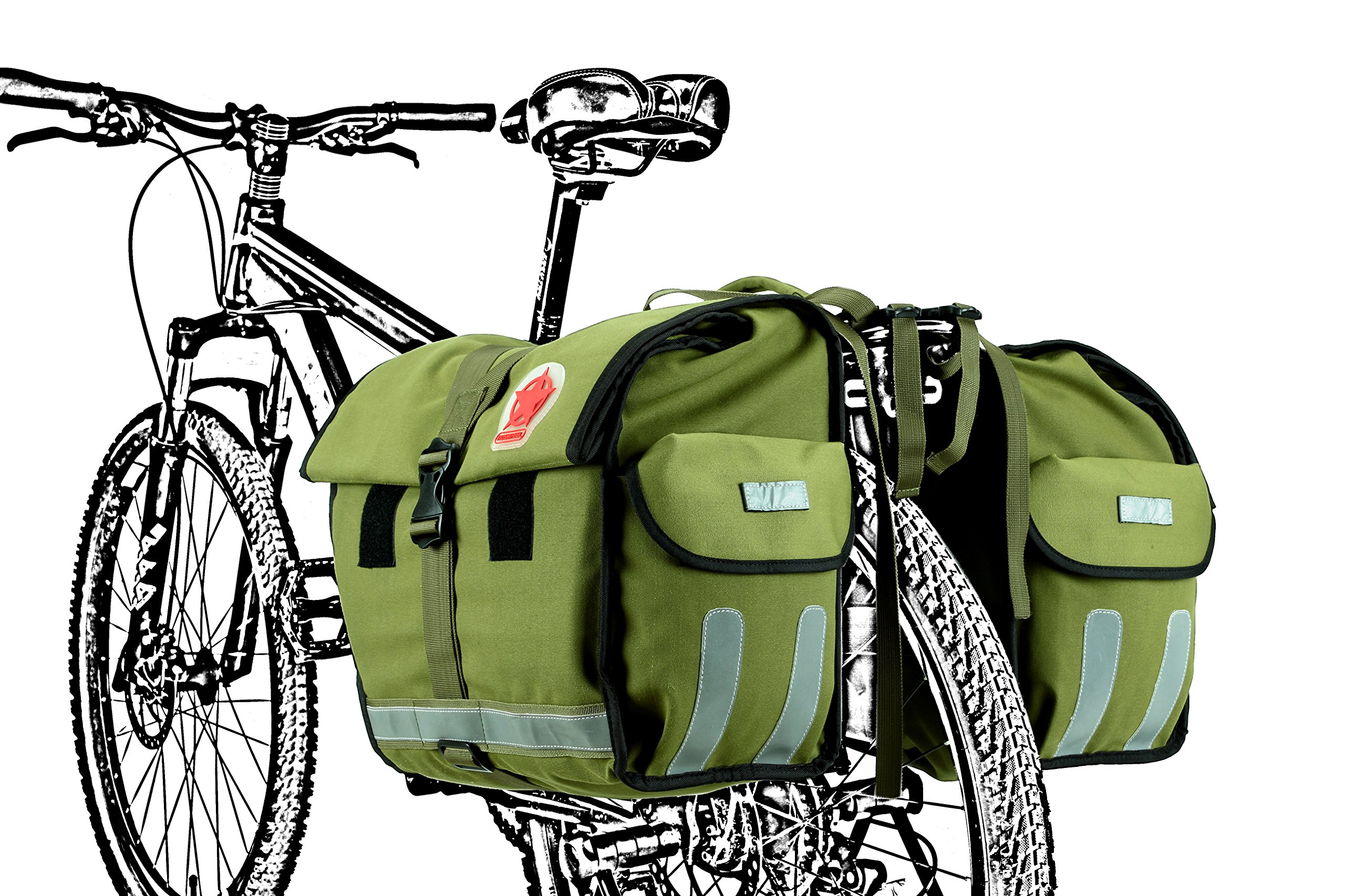 Roswheel 14686 Expedition Series Bike Rear Rack Bag Bicycle Double Panniers Cargo Trunk Bag by Roswheel (Image #6)