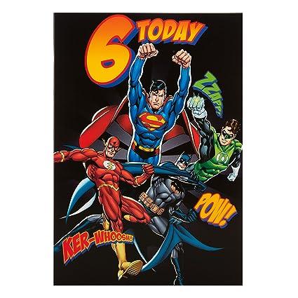 Hallmark Super Hero 6th Tarjeta de cumpleaños