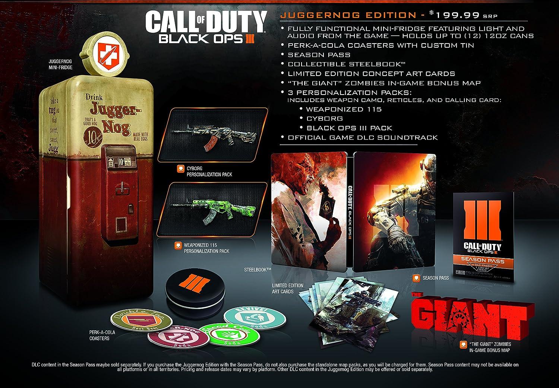 Amazon Com Call Of Duty Black Ops Iii Juggernog Edition