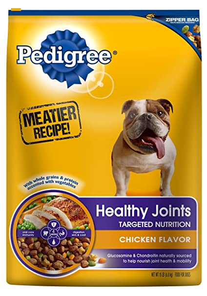 Amazoncom Pedigree Healthy Joints Chicken Flavor Dog Food 15