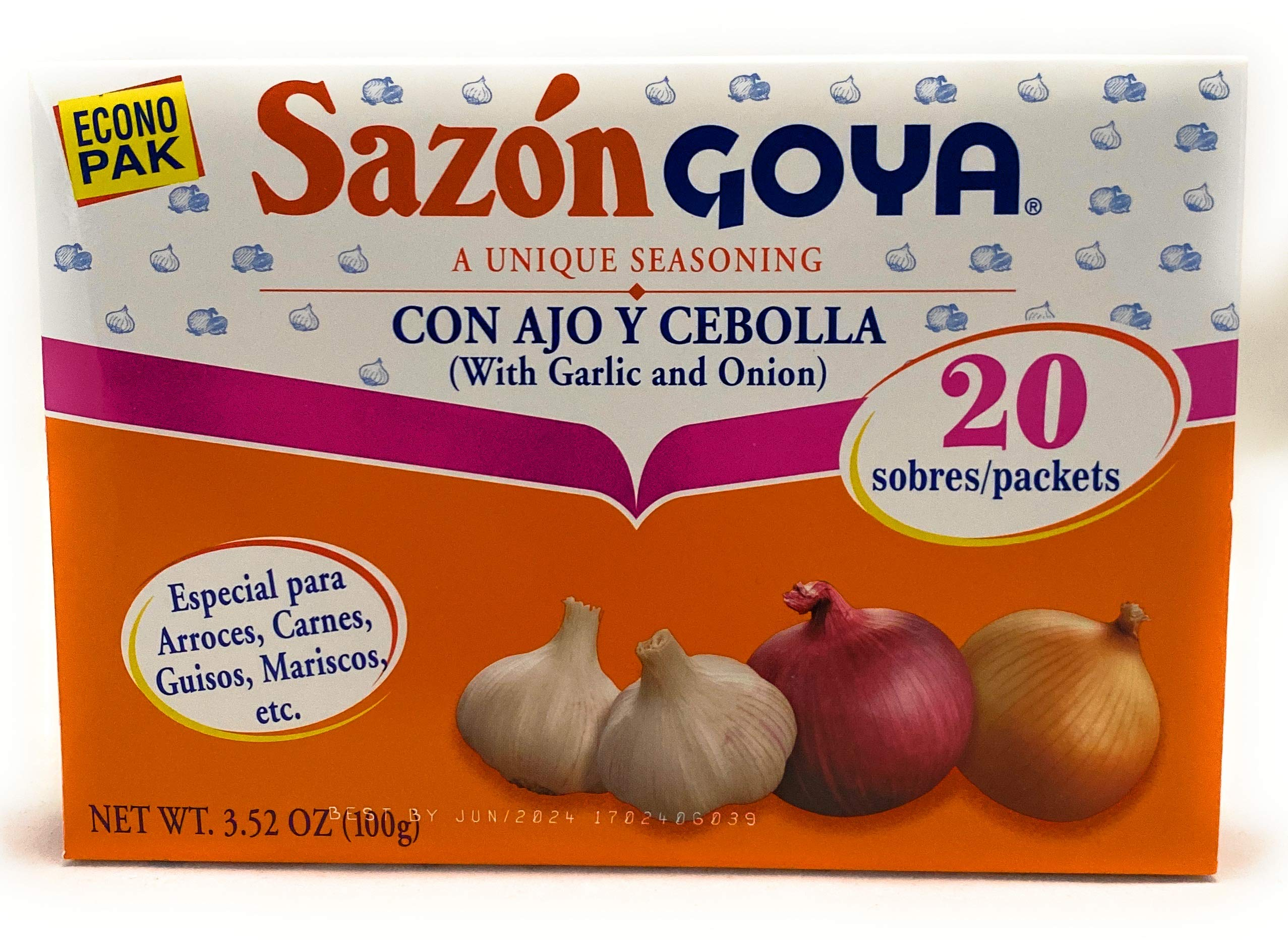Goya Sazon Garlic And Onion 3.5 oz