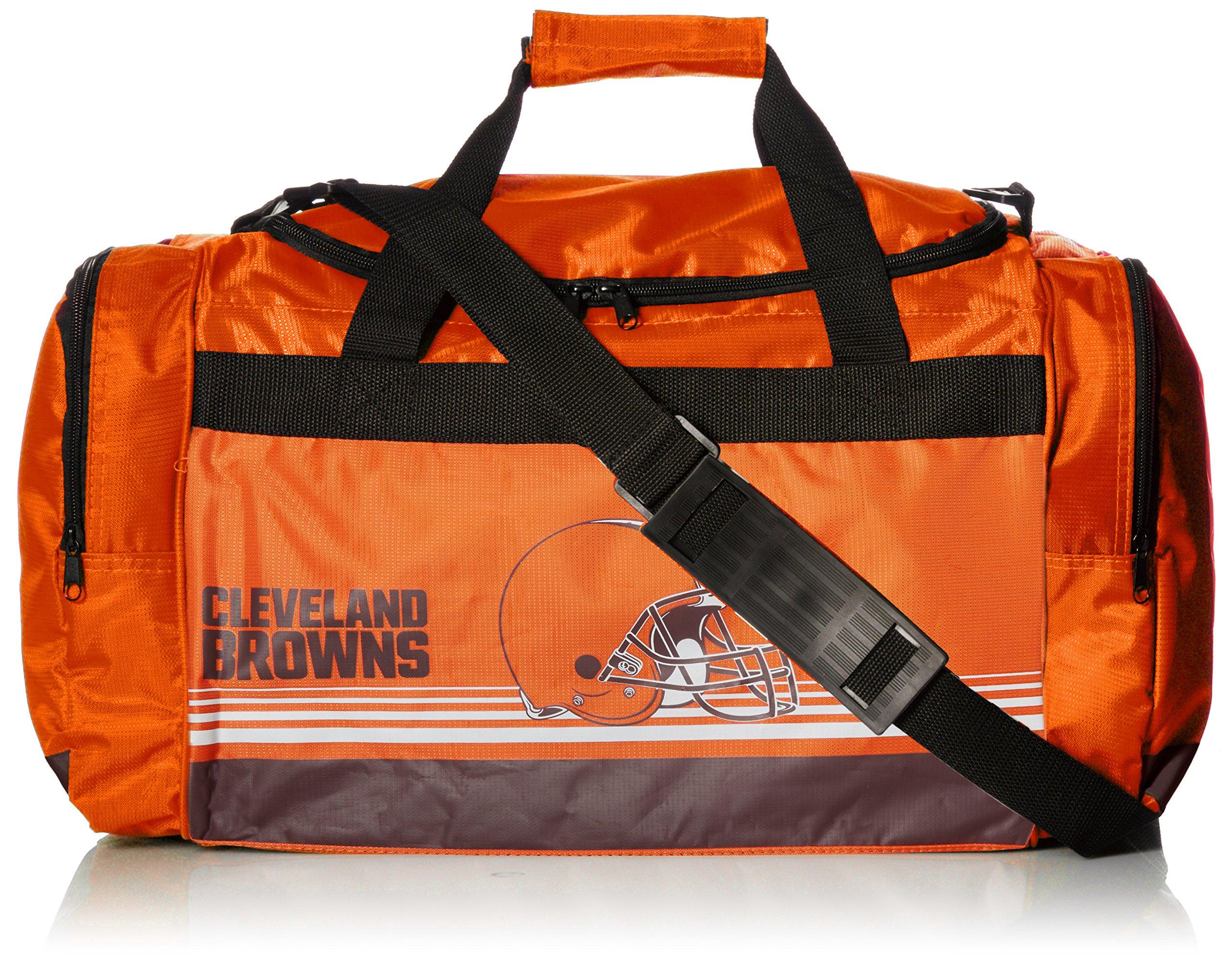 Cleveland Browns Medium Striped Core Duffle Bag