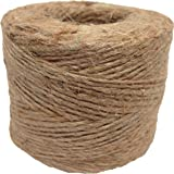 Jute Twine (1 Pack) - SGT KNOTS - 100% All-Natural Jute Fibers - Emergency Fire Starter String - All-Purpose Crafting Twine - for Home Improvement, Gardening, Camping, DIY Projects, More (285 feet)