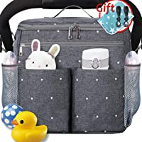 Secure fit 21 Main Collection Bonus Shoulder Strap Stroller Hook and Baby on Board Sticker Stroller Organizer with Insulated Cup Holders and Detachable Wristlet Lots of Storage