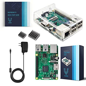 Vilros Raspberry Pi 3 Kit with Clear Case and 2 5A Power Supply