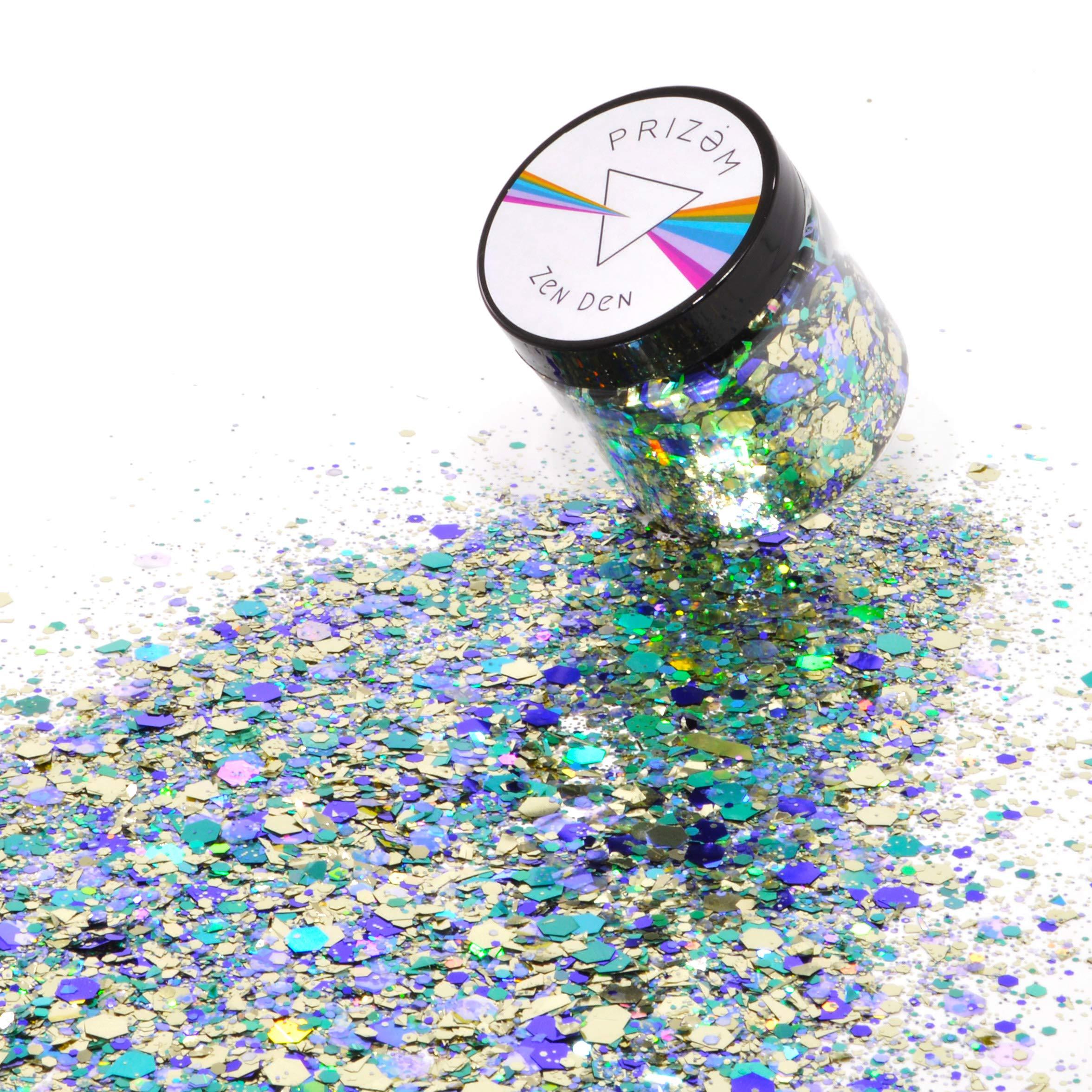 Prizem Zen Den Glitter ▽ 60g ▽ Festival Glitter , Chunky Glitter , Makeup Glitter , Face Glitter , Body Glitter , Glitter Makeup , Hair Glitter , Cosmetic Glitter , Nail Glitter , Eyeshadow Glitter
