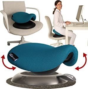 Portable Saddle Chair - Make Any Chair a Saddle Stool - Perfect for Ergonomic Office Chair - Makes A Great Gift for Horse Riders, Coworkers and Friends - Ergonomic Stool (Turquoise) - by Humantool