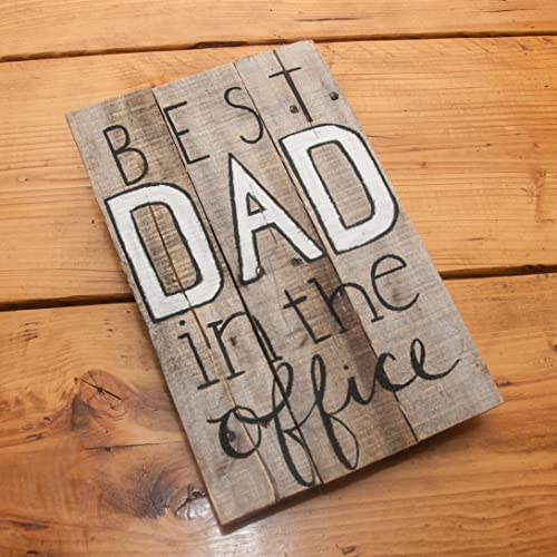 office gifts for dad. Best Dad In The Office Rustic Sign Decor Wood Custom Gifts For Amazon.com