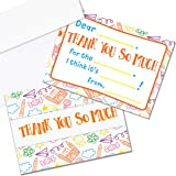 Kids Thank You Cards, 25 Fill in The Blank Thank You Cards for Kids, Children, Toddlers, Boys & Girls - Thank You Notes…