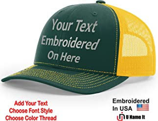 Amazon com: UNAMEIT: Custom/Personalized Embroidered Hats