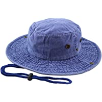 e8f9cae34ac14 THE HAT DEPOT 100% Cotton Stone-Washed Safari Wide Brim Foldable  Double-Sided