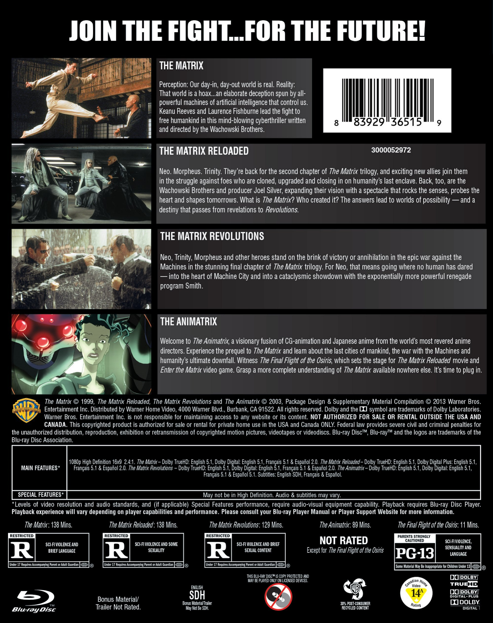 4 Film Favorites: The Matrix Collection (BD) [Blu-ray]