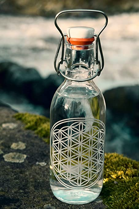 freiglas 0,5L Botella de cristal * * 100% Sin plástico de la flor