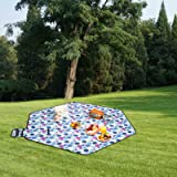 220*220cm Hexagon Picnic Garden Mat Blanket Rug for Camping Outdoor Using