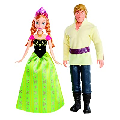 Disney Frozen Anna and Kristoff Doll, 2-Pack: Toys & Games