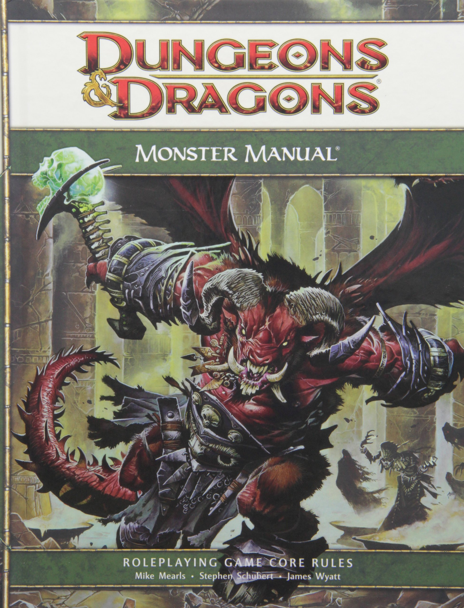 Dungeons & Dragons Monster Manual: Roleplaying Game Core Rules, 4th  Edition: Mike Mearls, Stephen Schubert, James Wyatt: 9780786948529:  Amazon.com: Books