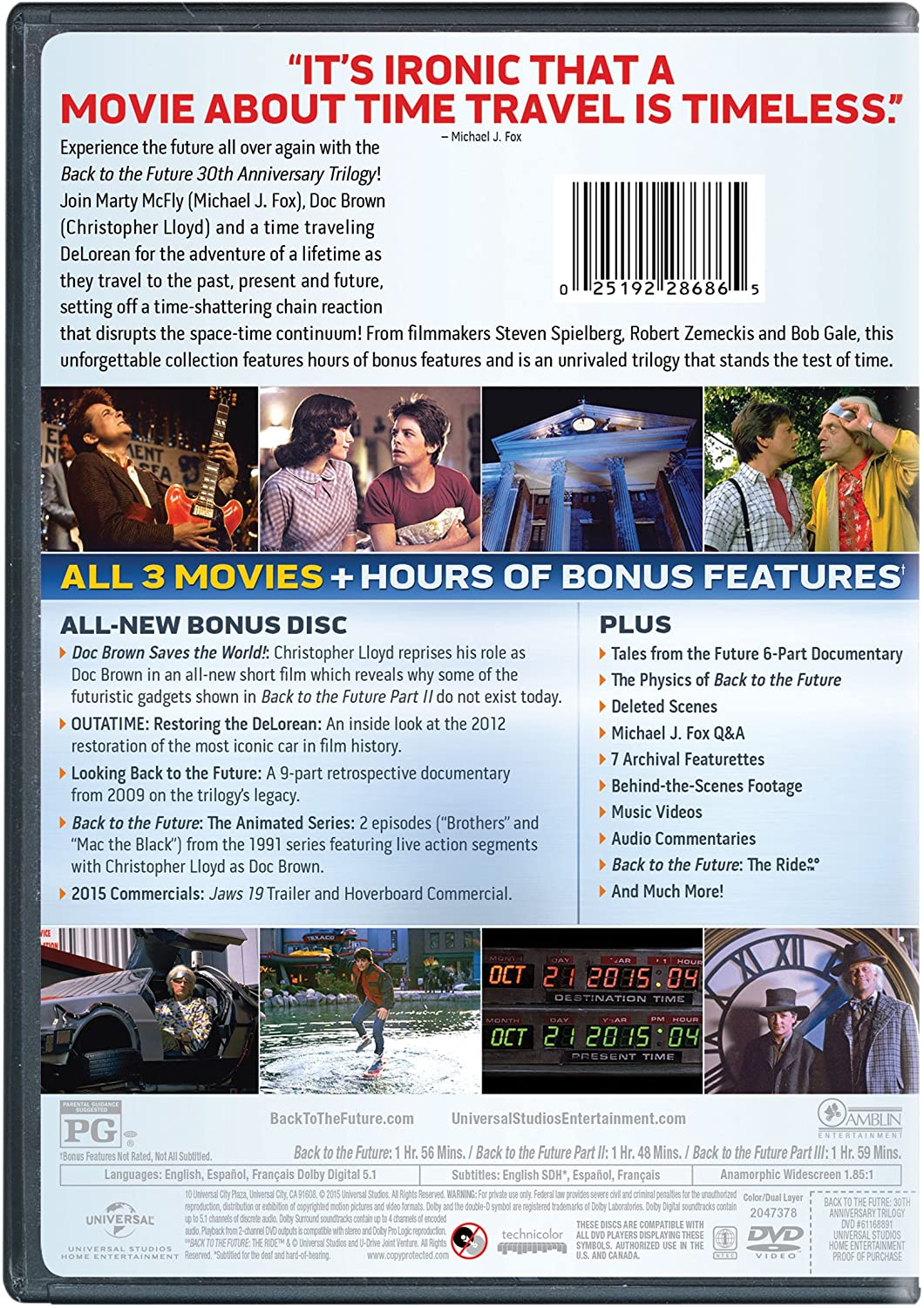 Amazon com: Back to the Future 30th Anniversary Trilogy