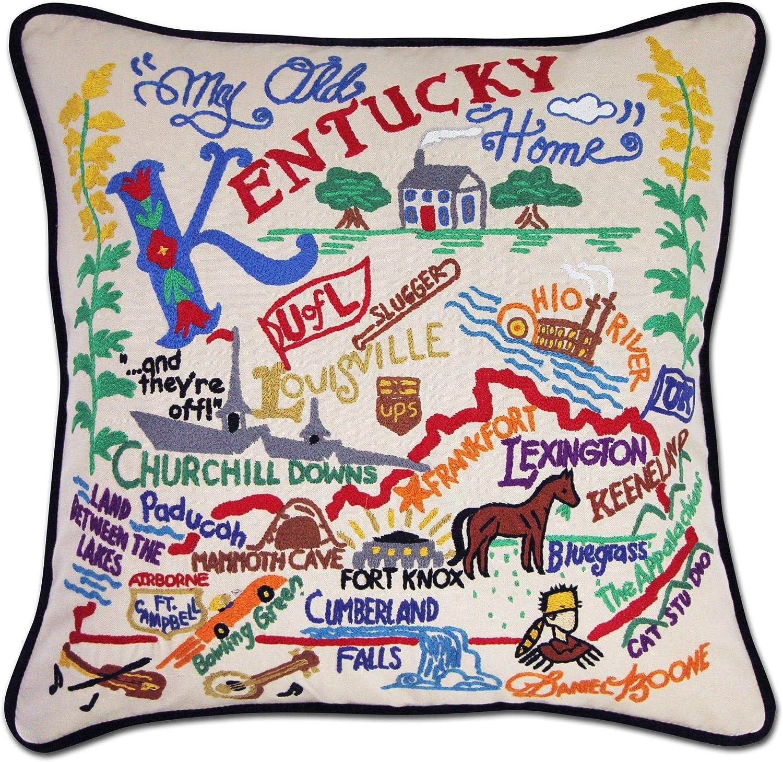 Amazon Com Catstudio Kentucky Embroidered Decorative Throw Pillow Home Kitchen