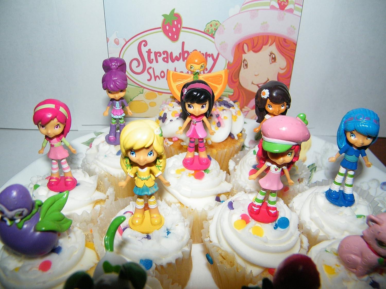 Amazon.com: Strawberry Shortcake Deluxe Figure Cake Toppers / Cupcake  Decorations Set of 12 with Custard, Pupcake, Orange Blossom, Lemon Meringue  and More!: