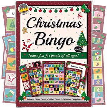 christmas party bingo game fun games for family office and kids xmas parties - Christmas Bingo For Kids