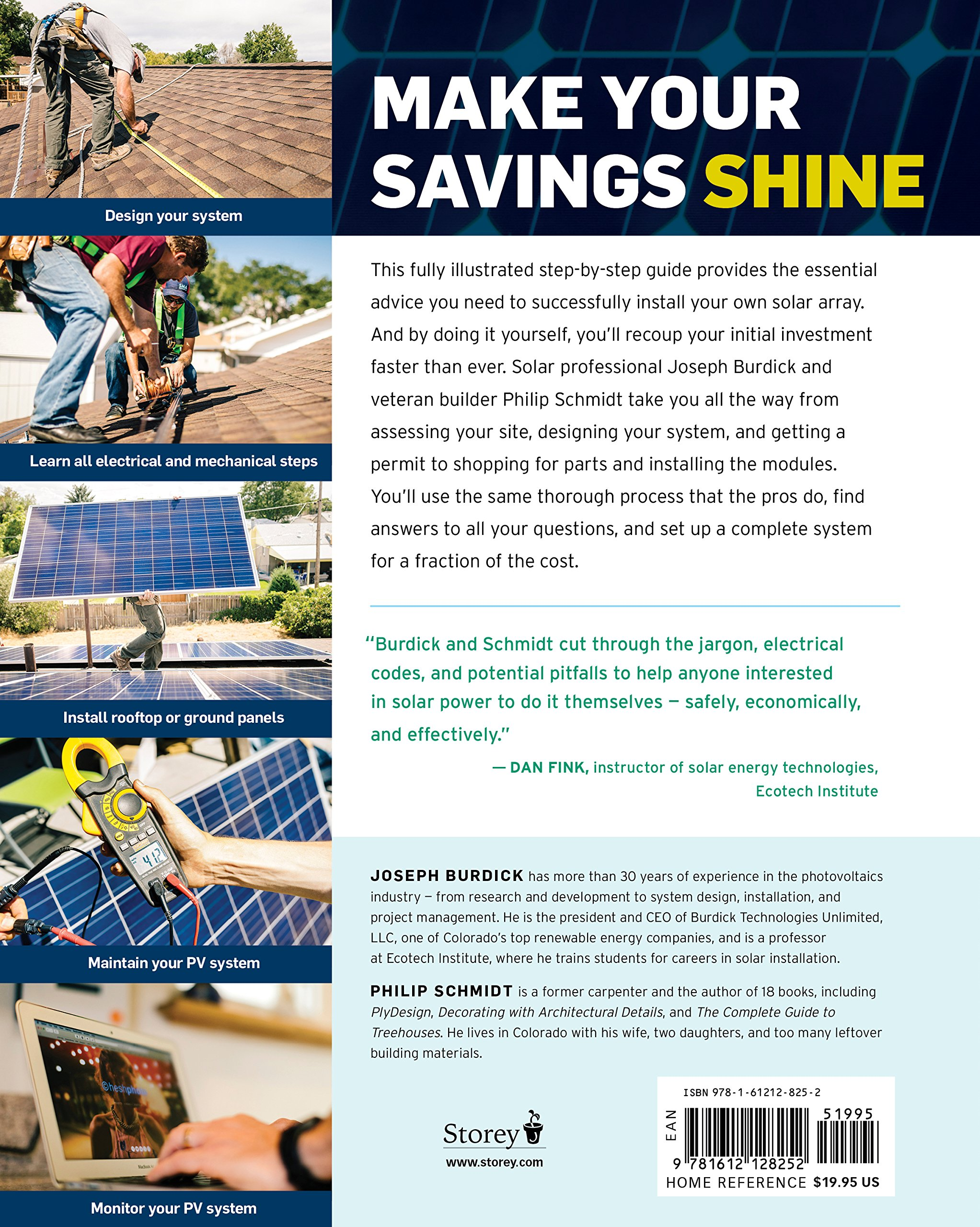 install your own solar panels designing and installing a photovoltaic system to power your home joseph burdick philip schmidt 9781612128252 amazoncom. Interior Design Ideas. Home Design Ideas