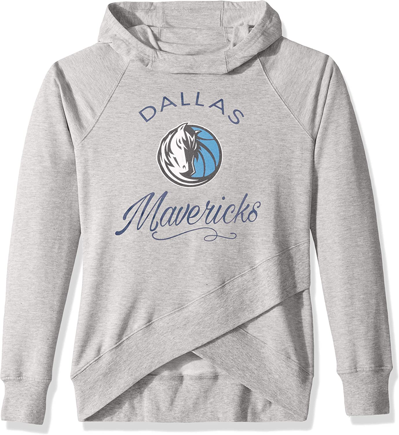 NBA by Outerstuff NBA Youth Girls Dallas Mavericks The Bridge Long Sleeve Funnel Neck Hoodie Youth Large 14 Heather Grey
