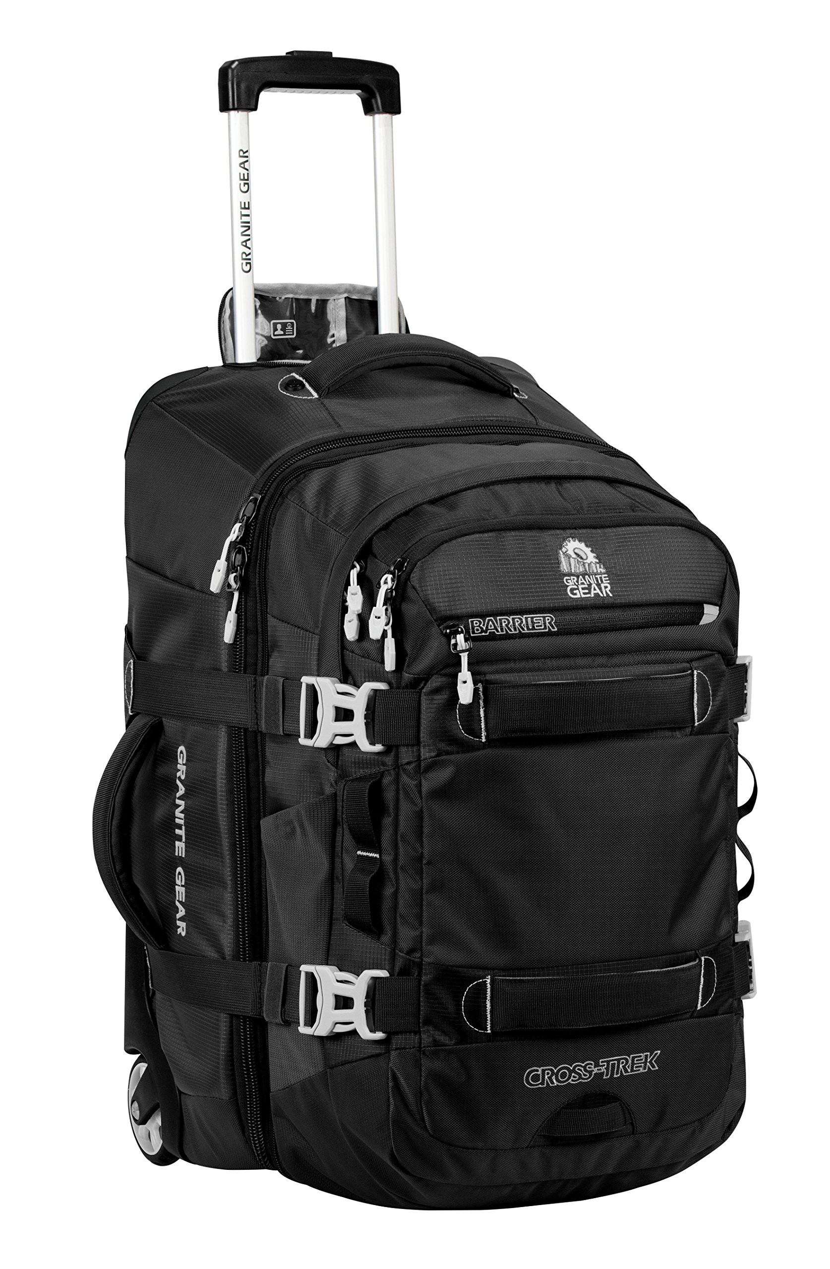 Granite Gear Cross-Trek Wheeled Carry-On with Removable 28L Pack - Black/Chromium