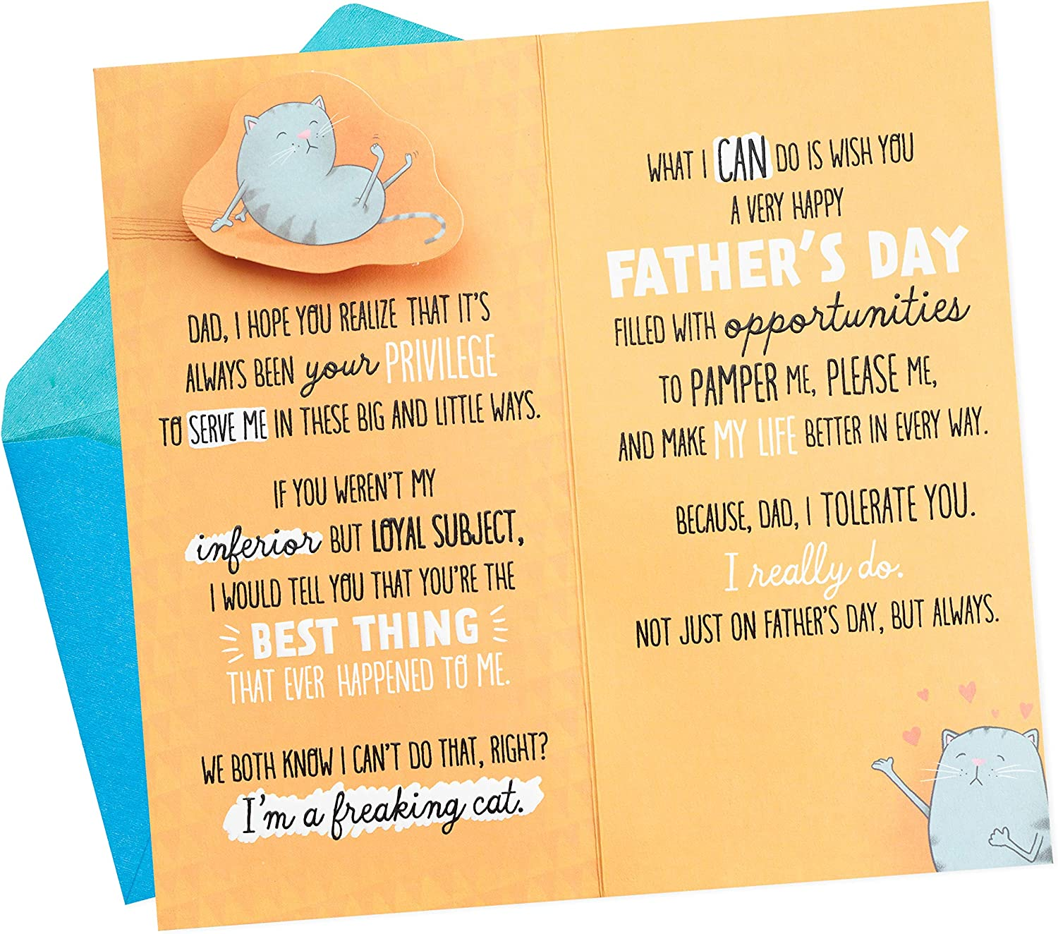 Me to You Father/'s Day Card You/'re the Greatest Dad