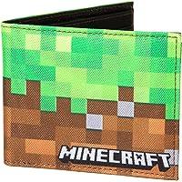 JINX Minecraft Dirt Block Nylon Bi-Fold Wallet (Multi-Color, One Size)