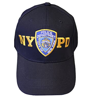 Amazon.com  NYPD Baseball Hat New York Police Department Navy   Gold ... 09e1a09eeb9c