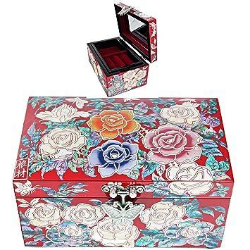 Amazoncom Antique Jewelry box Jewelry Organizer Women Gift Jewelry